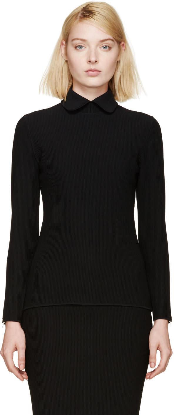 Image of Nina Ricci Black Ribbed Pullover