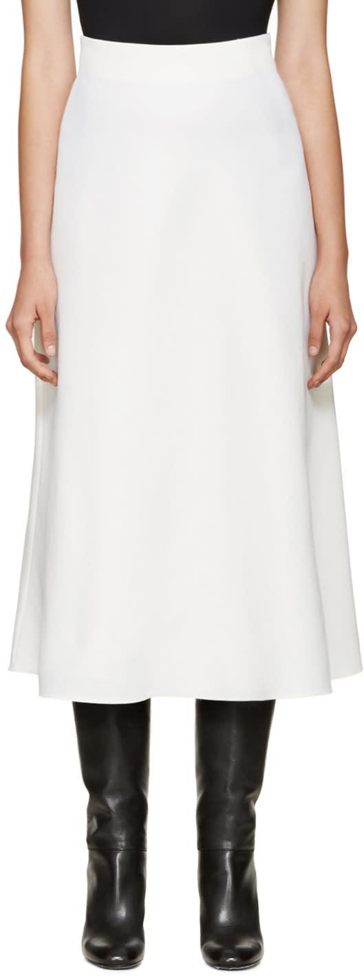 Valentino Ivory Wool Skirt