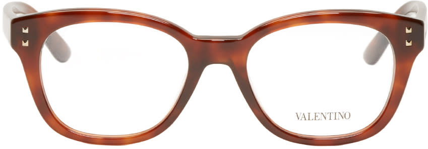 Valentino Brown Rockstud Optical Glasses