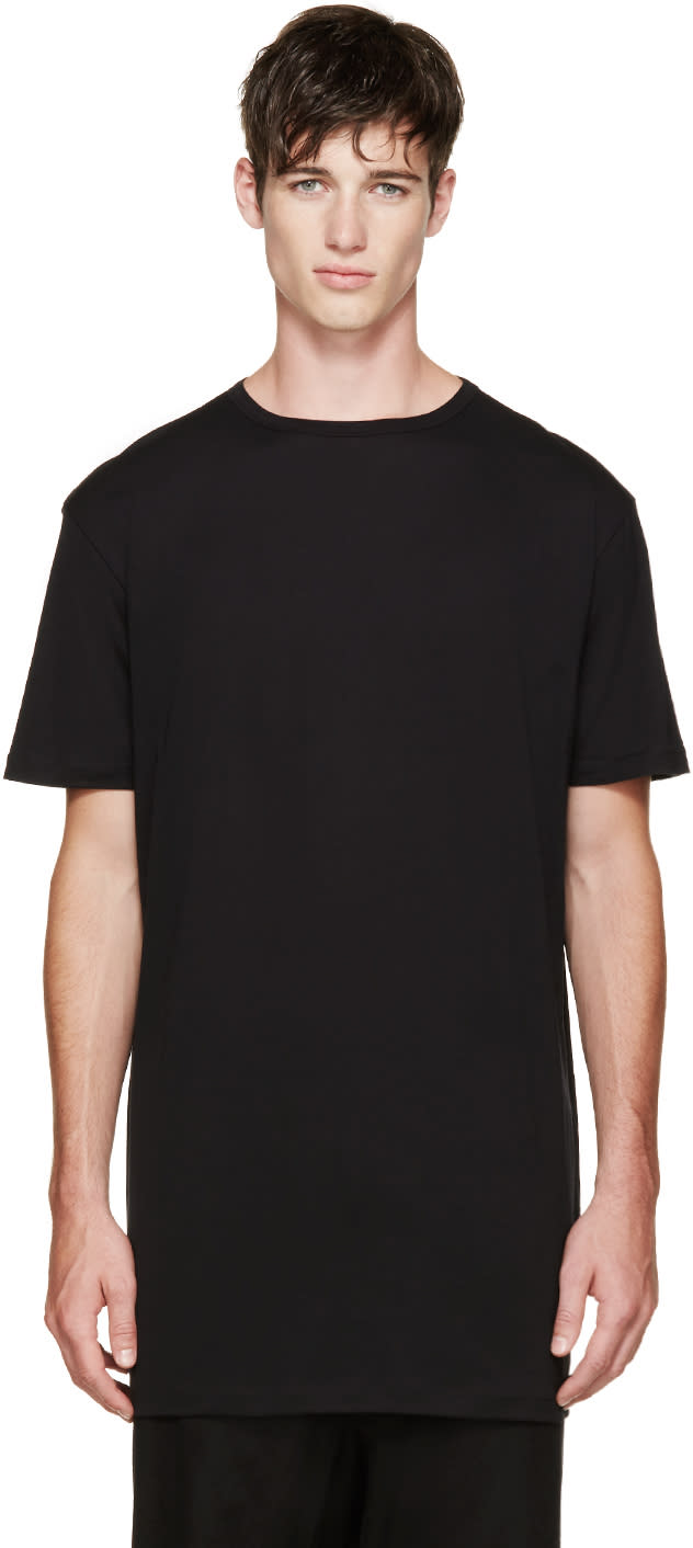 Thamanyah Black Fine Cotton T-shirt