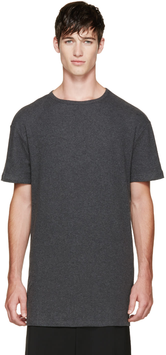 Thamanyah Grey Brushed Cotton T-shirt