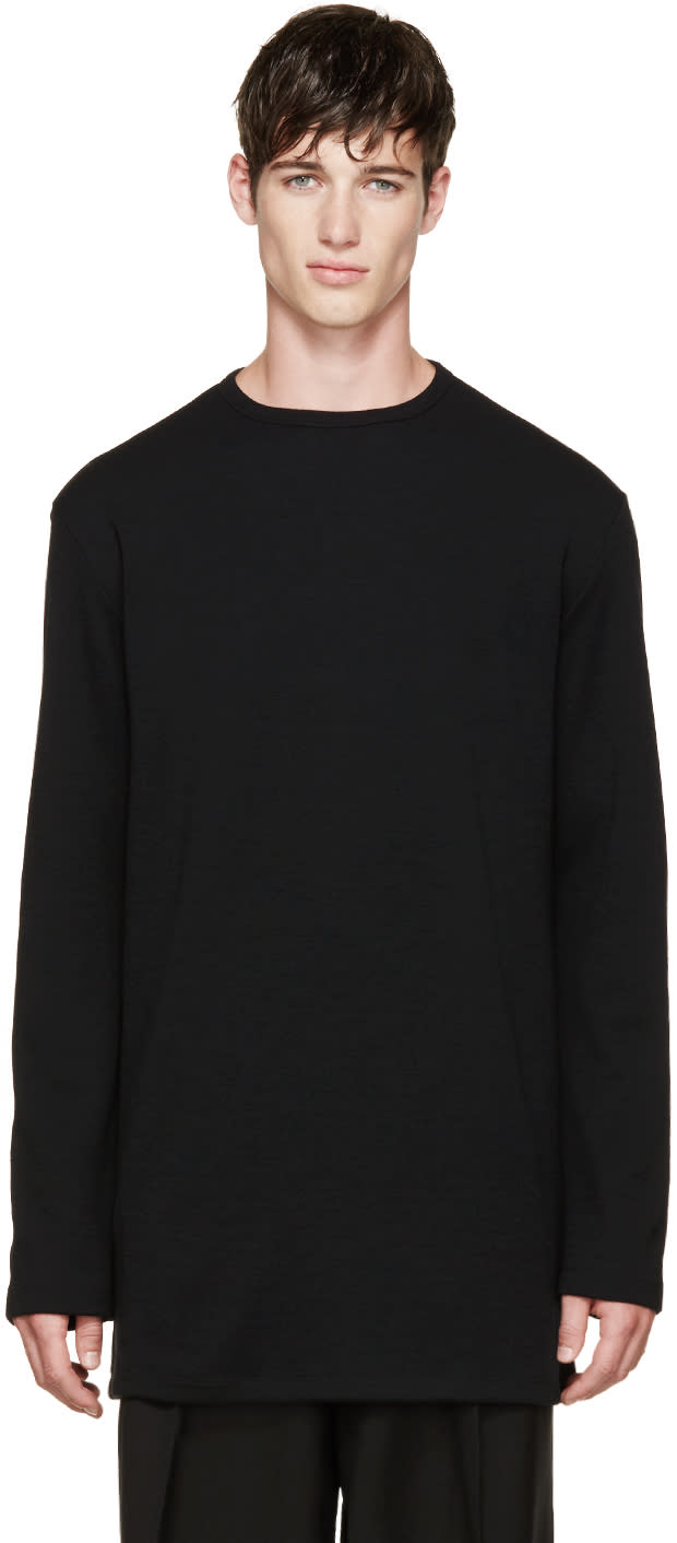 Thamanyah Black Merino Knit Sweater