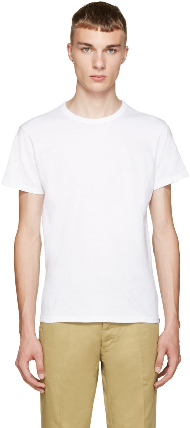 Visvim White Wave Flag T-shirt