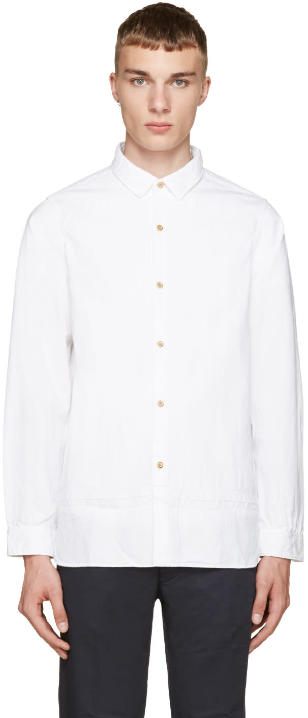 Visvim White Long Rider Shirt