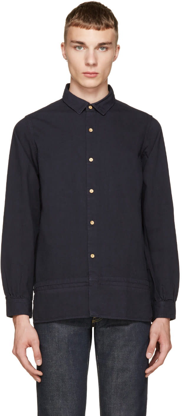 Visvim Navy Long Rider Shirt