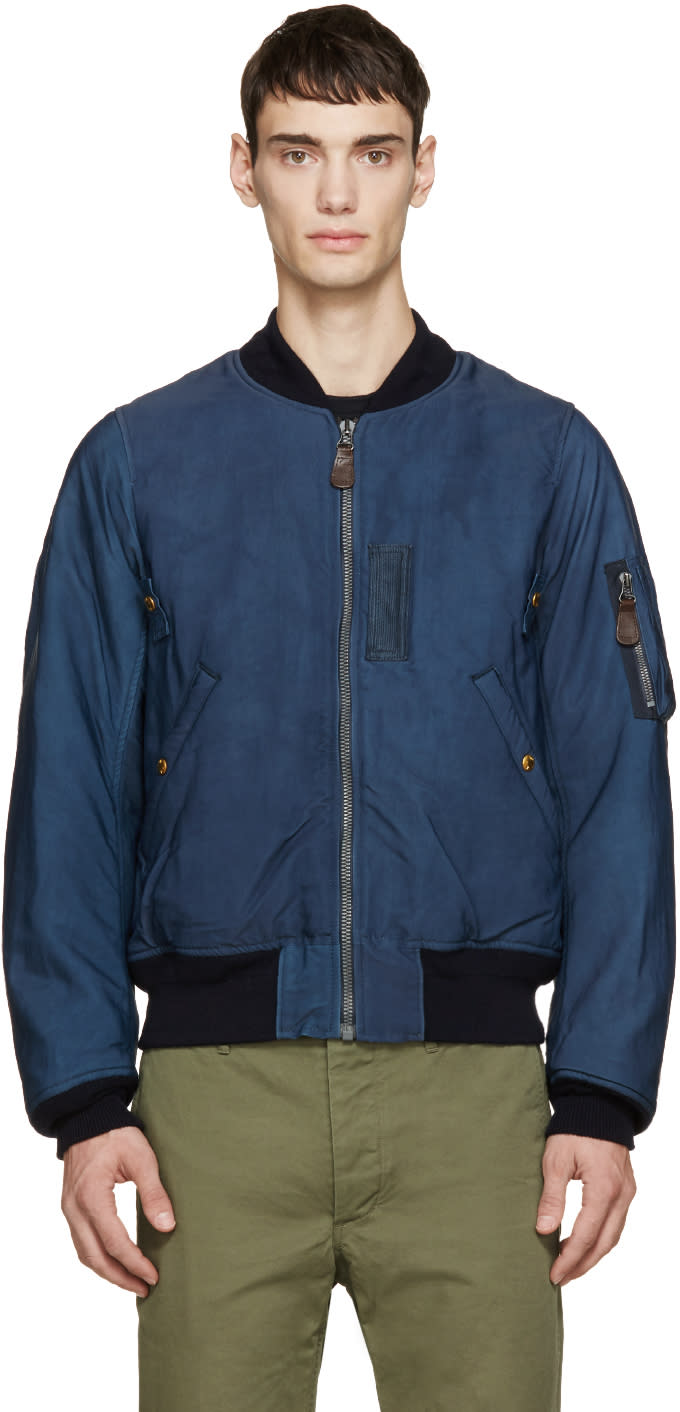 Visvim Navy Thorson Bomber Jacket
