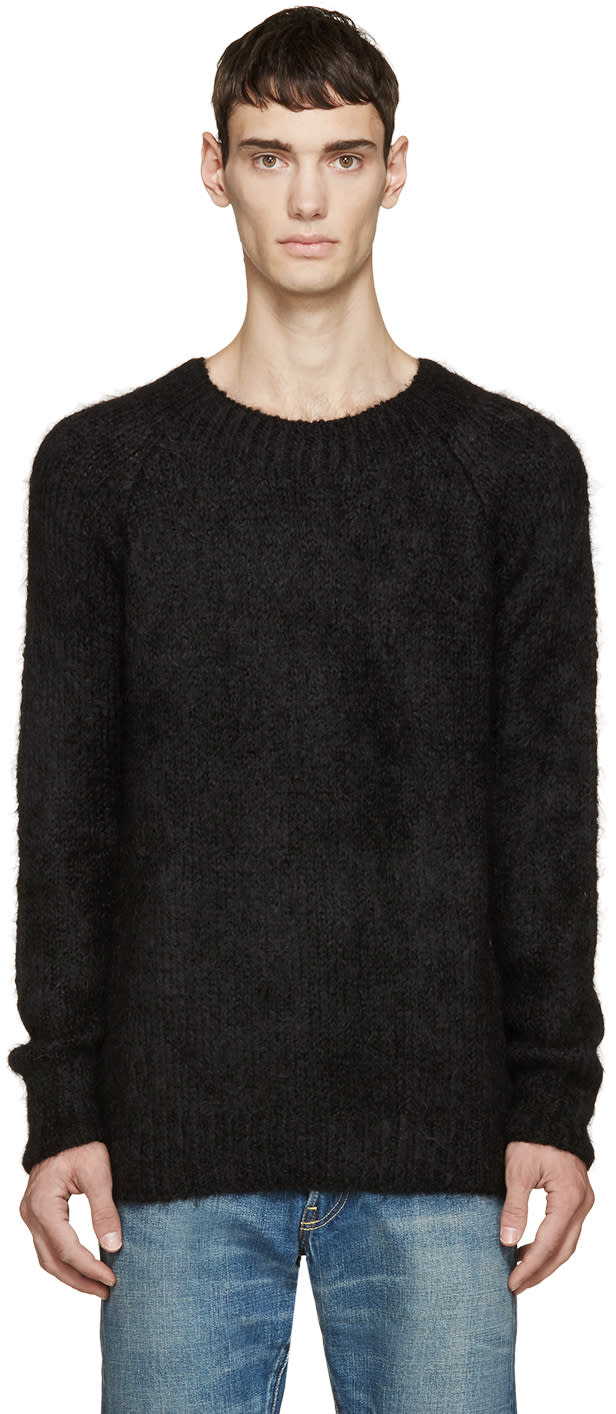 Visvim Black Alpaca Highland Sweater