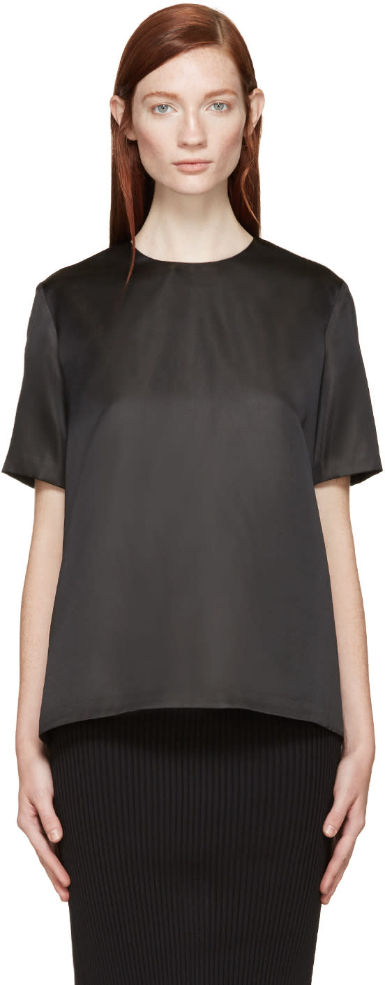 Yang Li Black Silk Blouse