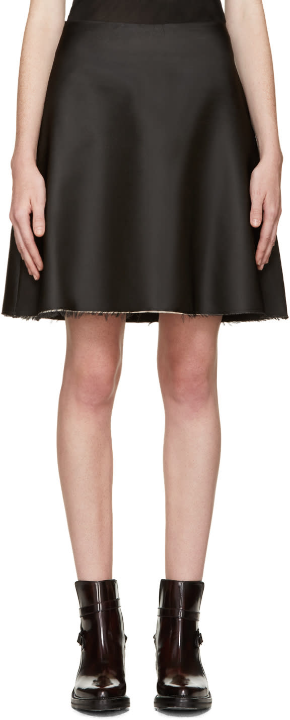 Yang Li Black Silk Skirt