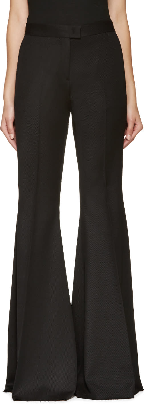 Yang Li Black Wool Extreme Flare Trousers