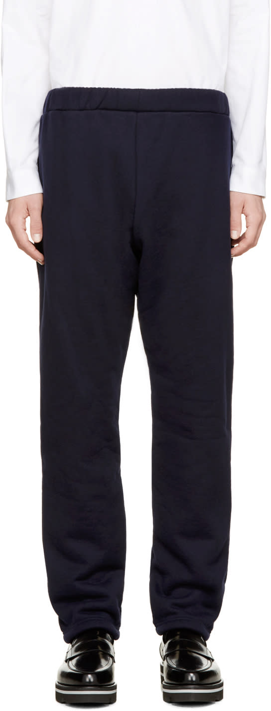 08sircus Navy Knit Boa Pants