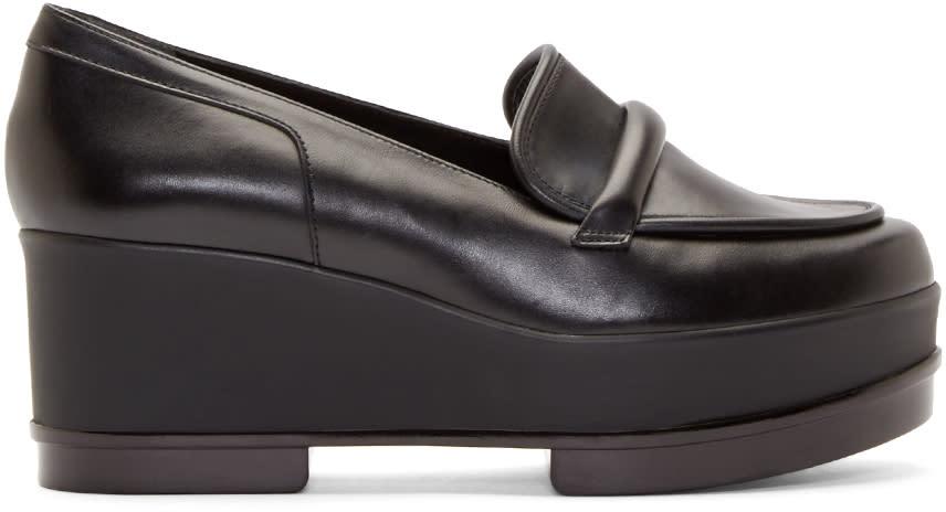 Robert Clergerie Black Platform Yokolej Penny Loafers