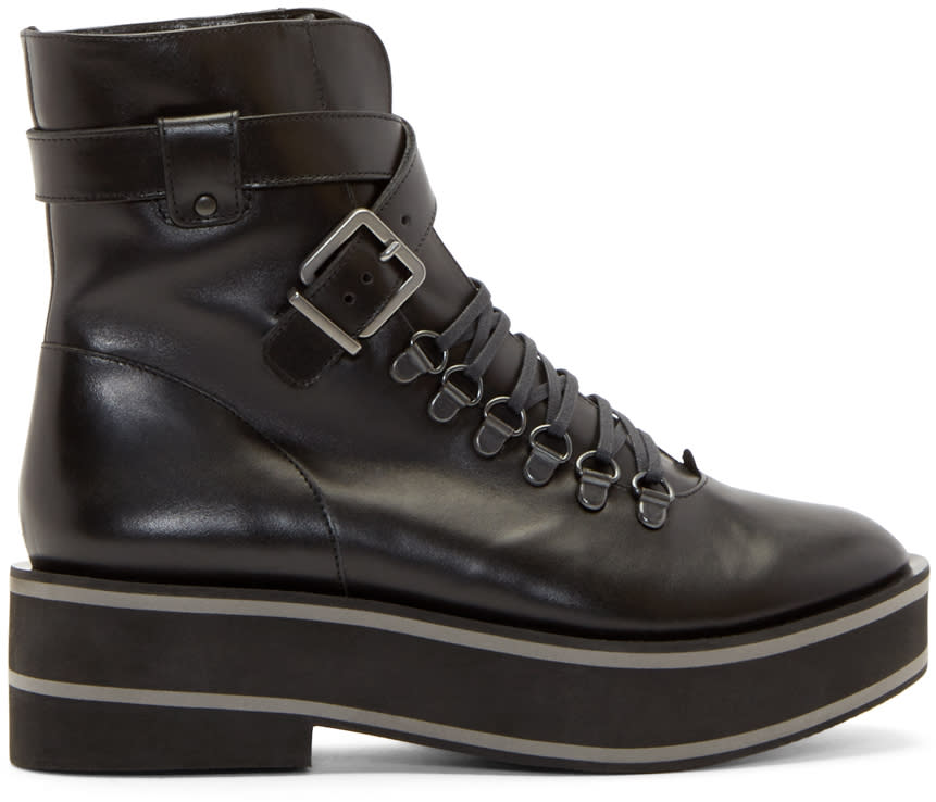 Robert Clergerie Black Platform Irma Boots