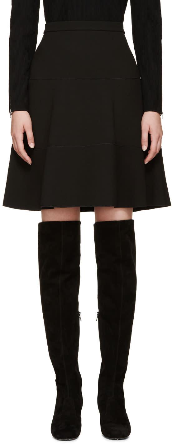 Giambattista Valli Black A-line Silk Skirt