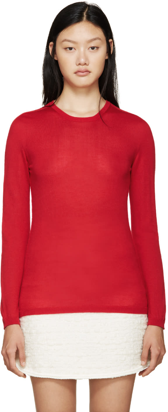 Giambattista Valli Red Cashmere Sweater