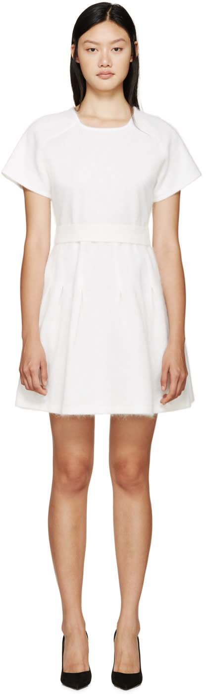 Giambattista Valli White Angora Dress