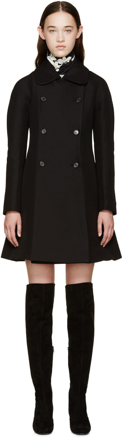 Giambattista Valli Black A-line Peacoat