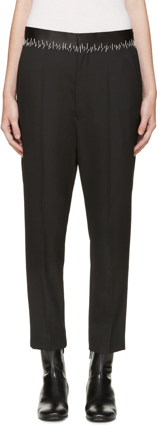 Haider Ackermann Black Stitch Waist Trousers