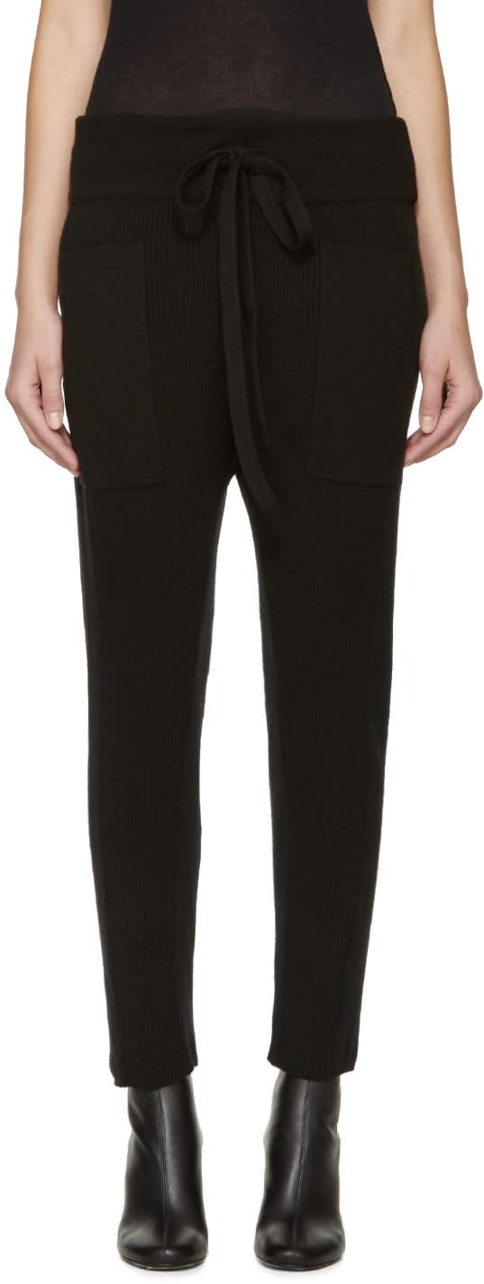 Haider Ackermann Black Wool Knit Lounge Pants