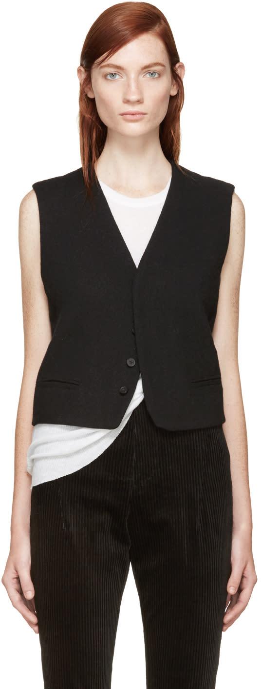 Haider Ackermann Black Wool Vest