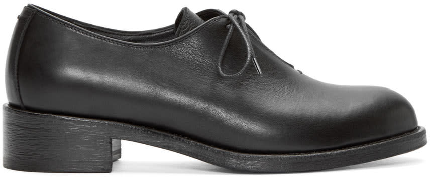 Haider Ackermann Black Leather Derbys