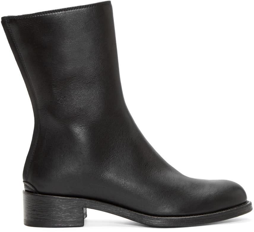 Haider Ackermann Black Leather Mid-calf Boots