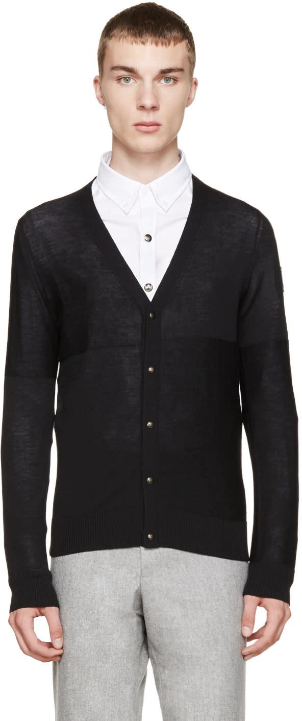 Moncler Gamme Bleu Black Wool Cardigan