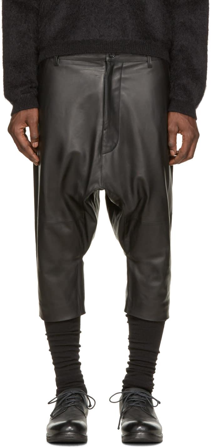 Alexandre Plokhov Black Leather Shorts