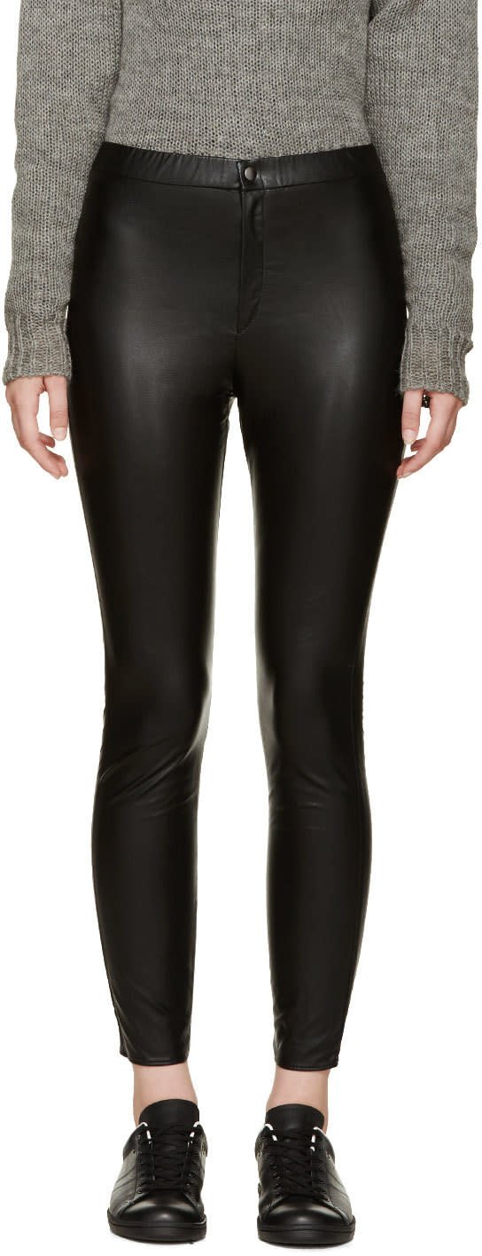 Isabel Marant Etoile Black Jeffrey Easy Leggings