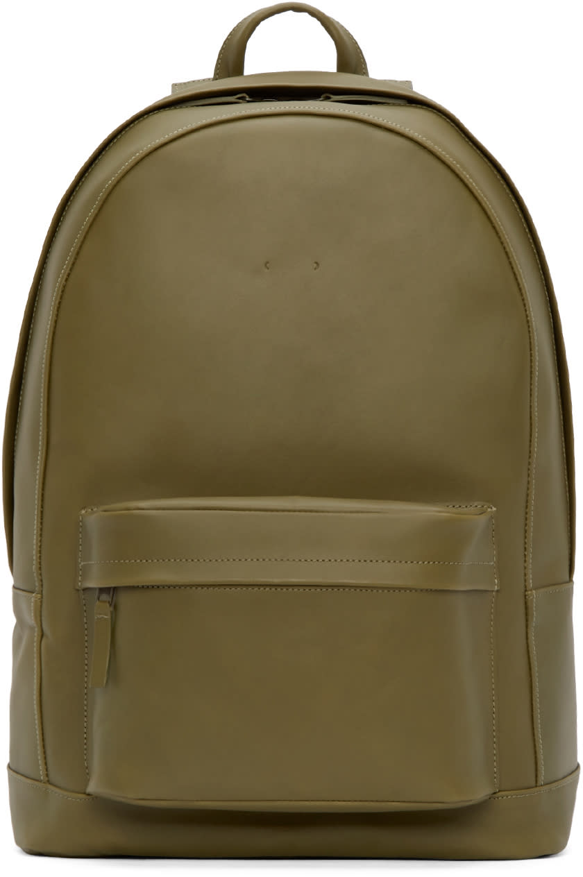Pb 0110 Olive Leather Ca 6 Backpack
