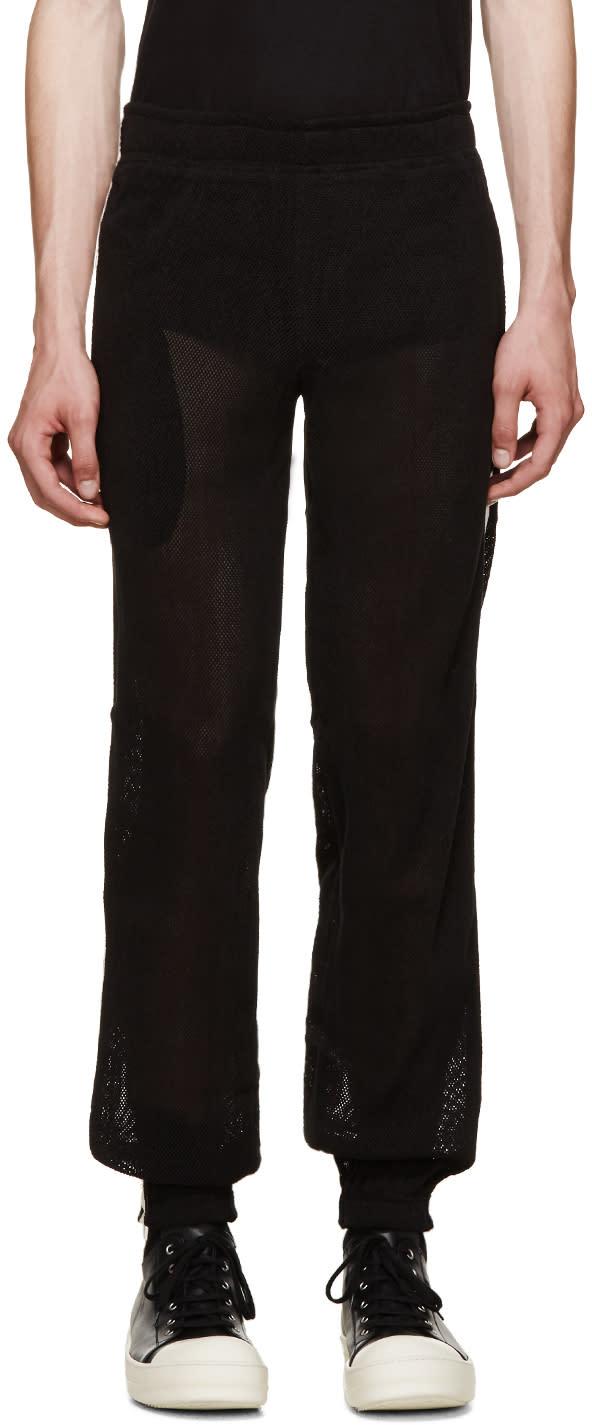 Pigalle Black Mesh Lounge Pants