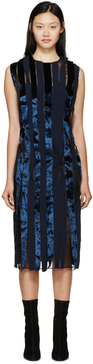 Rejina Pyo Navy and Black Shauna Seaweed Dress