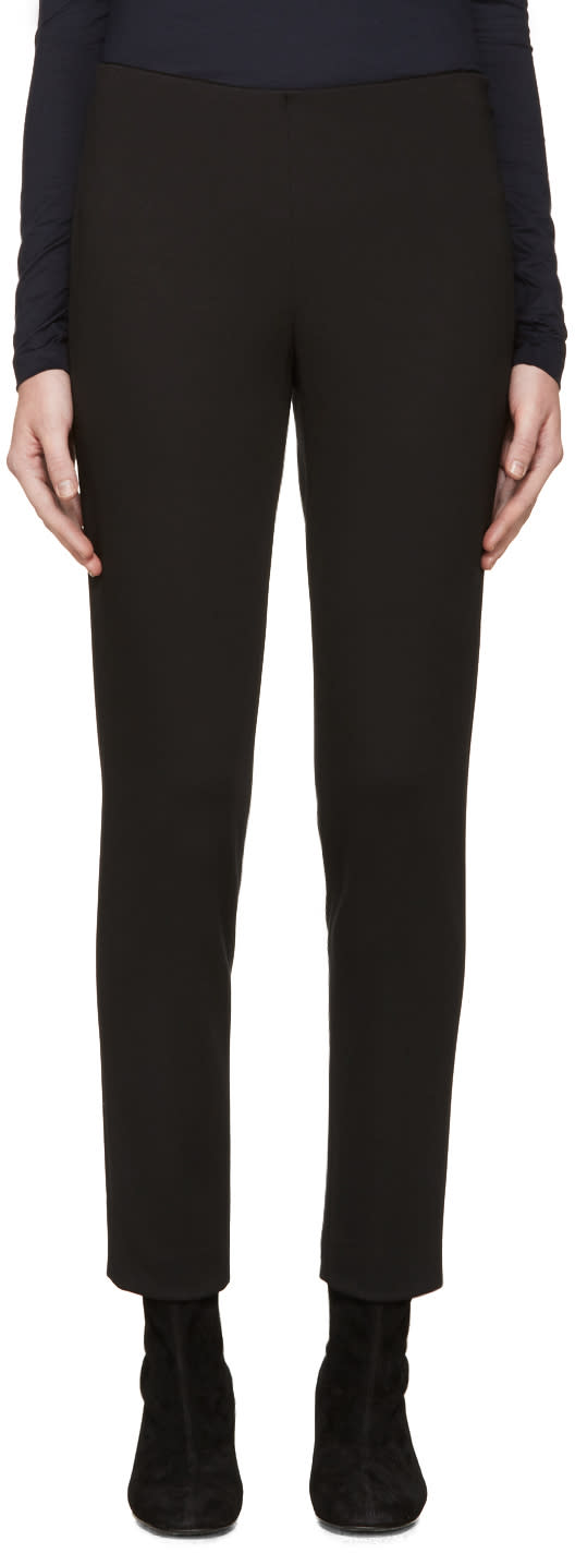 Jil Sander Navy Black Cropped Leggings