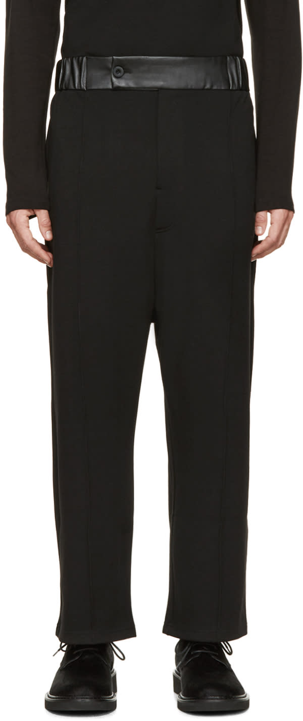 D By D Black Logo Jersey Trousers