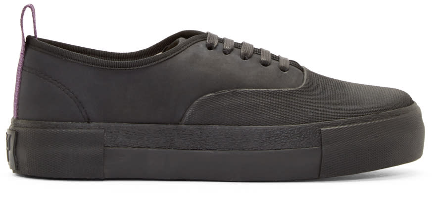 Eytys Black Leather Mother Galosch Sneakers