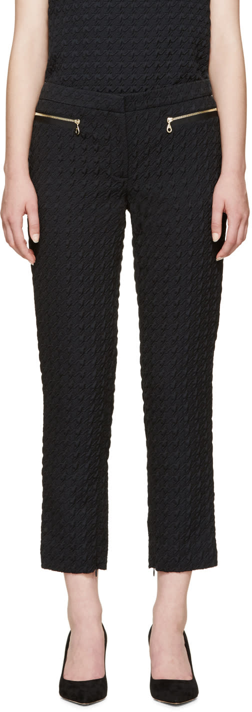 Erdem Blue Houndstooth Sienna Trousers