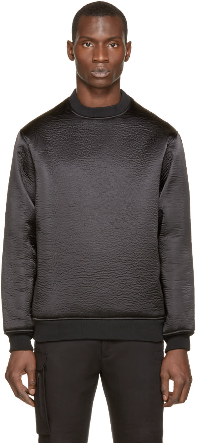 Wanda Nylon Black Textured Alan Sweater