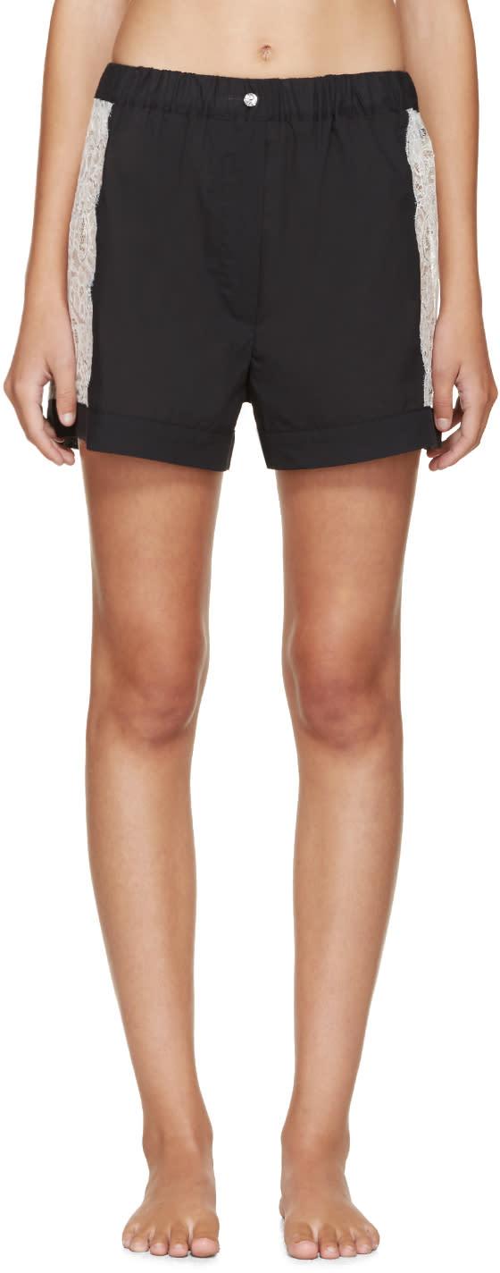 Raphaëlla Riboud Black Lace-inset Museletta Shorts