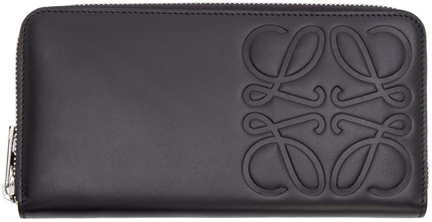 Loewe Black Embossed Logo Wallet