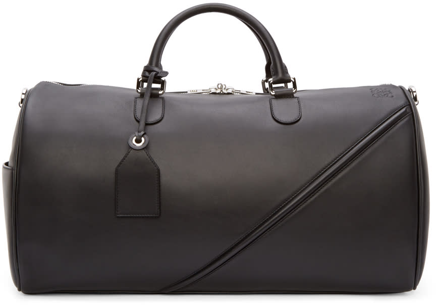 Loewe Black Leather Duffle 51 Bag