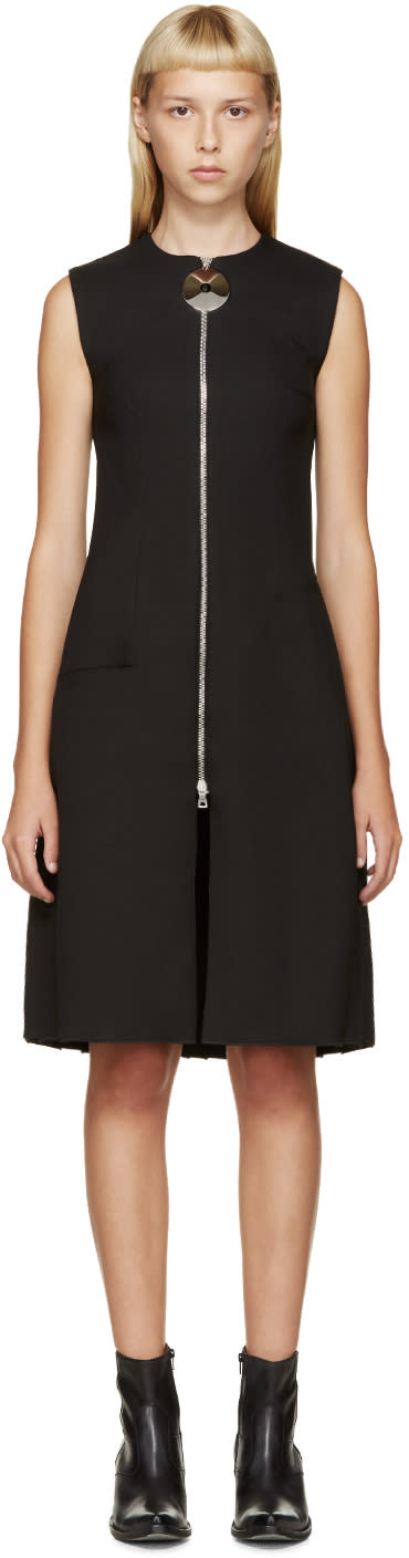 Image of Thomas Tait Black Angled Pleat Dress
