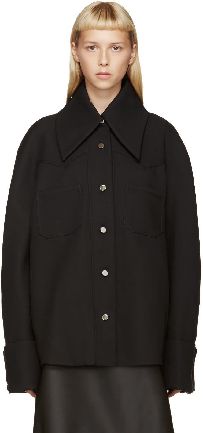 Image of Thomas Tait Black Western Shirt