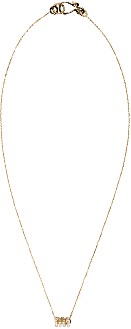 Sophie Bille Brahe Gold Ressort Chain Necklace