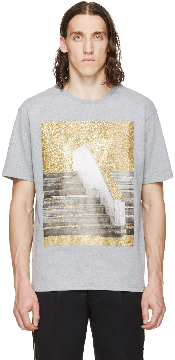 Palm Angels Grey Stairs T-shirt