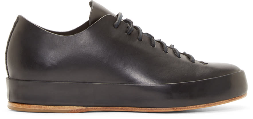 Feit Black Leather Low-top Sneakers