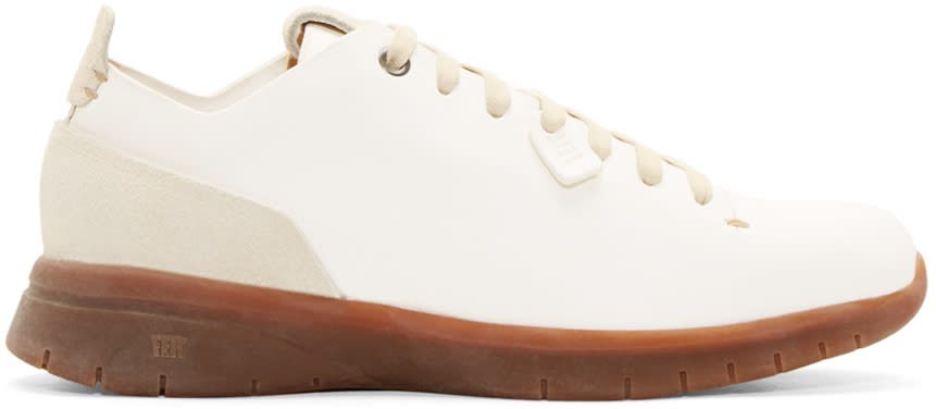 Feit White Leather Biotrainer Sneakers
