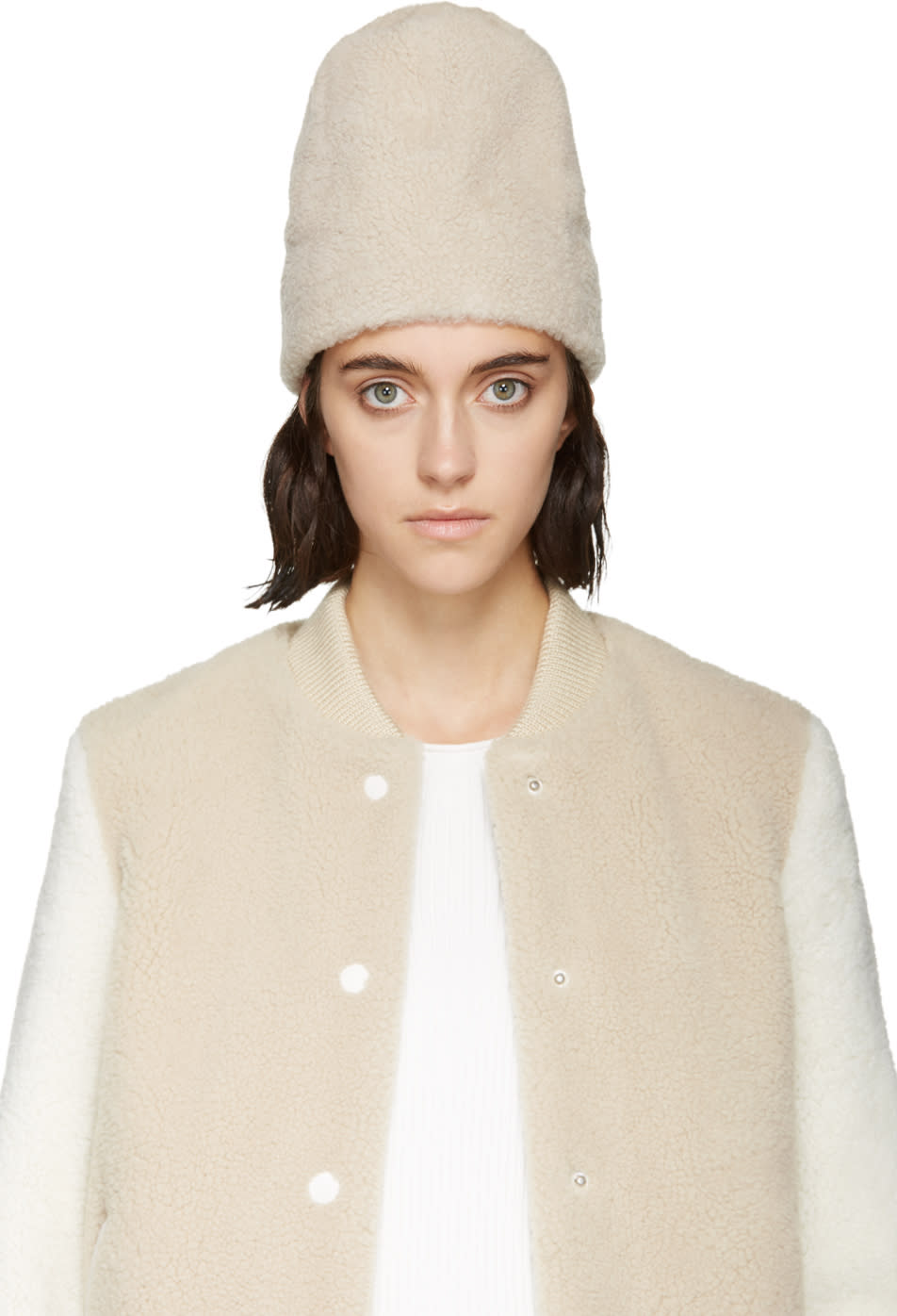 Image of Aalto Cream Shearling Hat