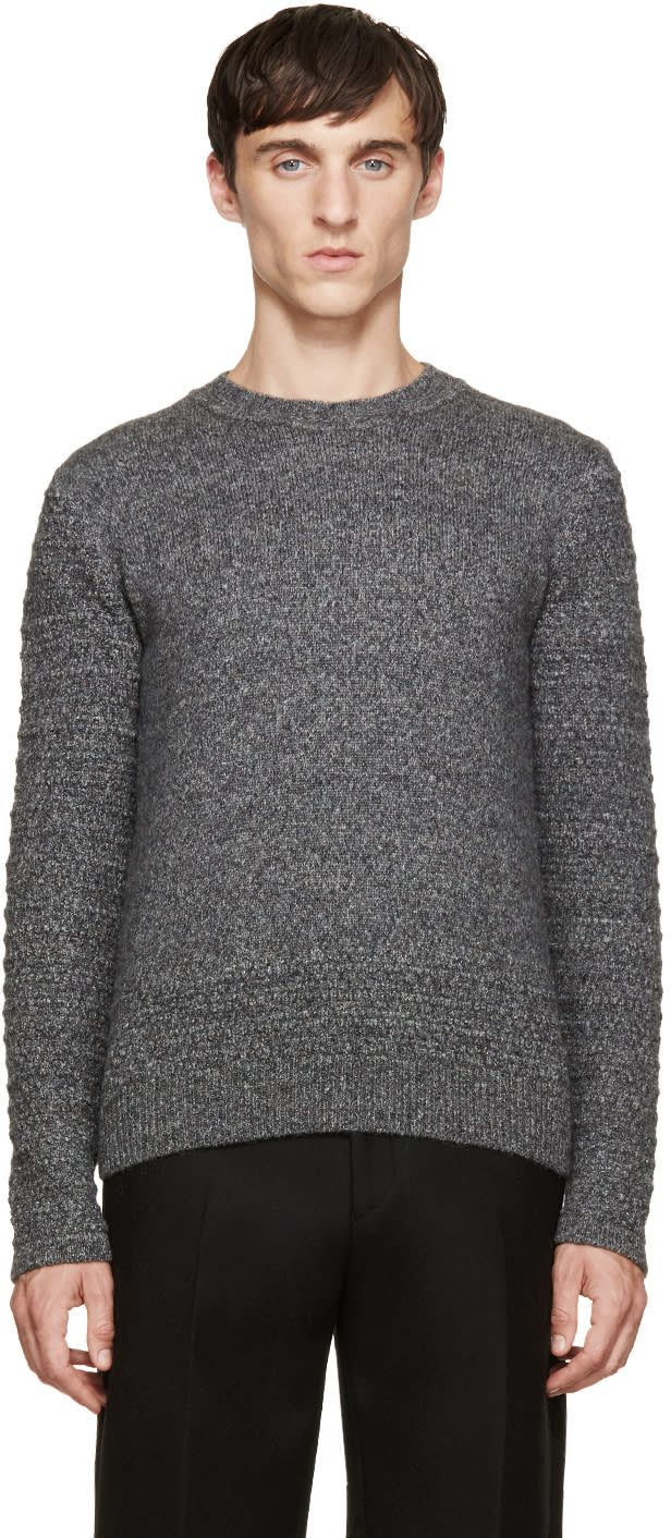 Wooyoungmi Grey Wool Knit Sweater