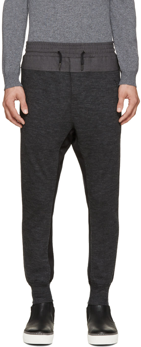 Wooyoungmi Grey Panelled Lounge Pants