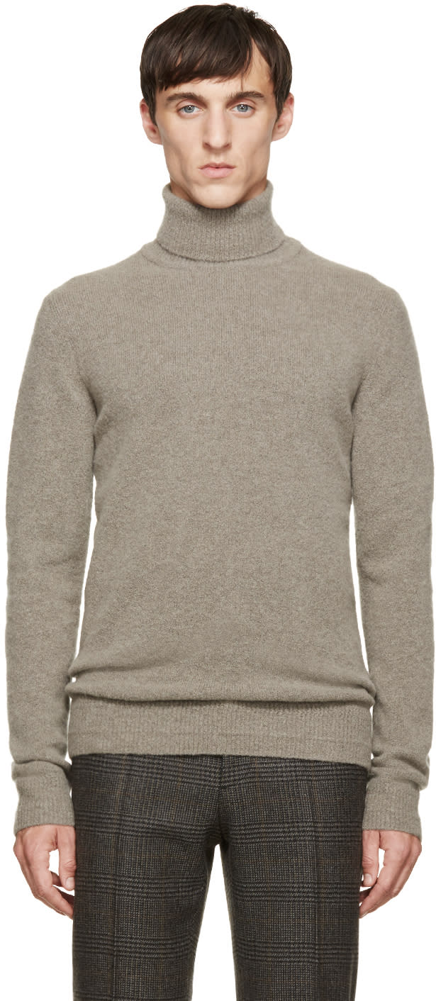 Wooyoungmi Grey Cashmere Turtleneck Sweater